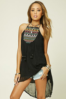 Forever 21 FOREVER 21+ Boho Me Embroidered Tunic