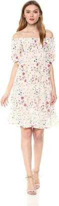 Velvet by Graham & Spencer Women's Bayler Floral Shortsleeve Peasant Dress