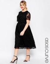 Asos Lace Crop Top Midi Dress