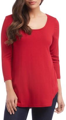 Karen Kane Scoop Neck 3/4 Sleeve Top