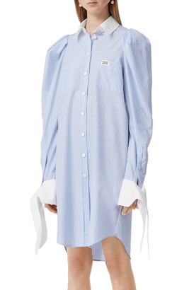 Burberry Stripe Poplin Long Sleeve Shirtdress