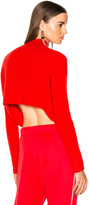 Soyer for FWRD Crop Sweater in Red.