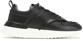 Tod's Fringed Perforated Leather Sneakers