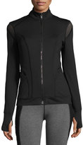 Michi Illusion Performance Jacket with Mesh Trim, Black