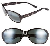 Maui Jim Women's 'Koki Beach' 56Mm Polarized Sunglasses - Black And Grey Tortoise/ Grey