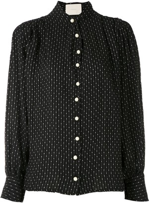 Point Sprit polka dots shirt