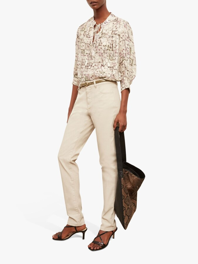 Thumbnail for your product : Gerard Darel Margaux Zip Side Pocket Jeans, Beige
