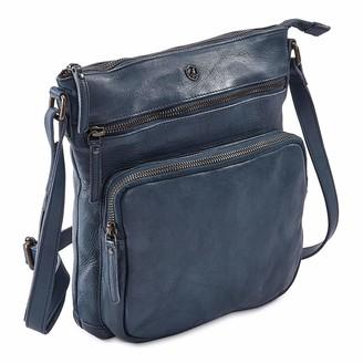 COCHOA Women's Crossbody Real Leather Triple Zip Bag Purse