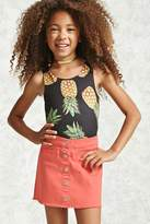 Forever 21 Girls Frayed Denim Skirt (Kids)