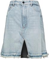 Alexander Wang Pleated denim mini skirt