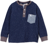 Original Penguin Dress Blues Chambray Pocket Henley - Toddler & Boys