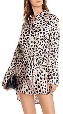 Aqua Tie-Front Cheetah Print Dress - 100% Exclusive
