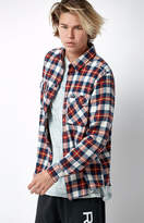 RVCA That'll Work Plaid Flannel Long Sleeve Button Up Shirt