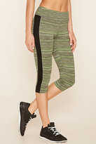 Forever 21 Active Striped Capri Leggings