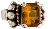 Lagos Two-Tone Citrine Caviar Ring