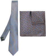 Lanvin tie and pocket square set