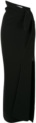 Maticevski Asymmetric Draped Midi Skirt