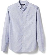 Banana Republic Grant-Fit Cotton-Stretch Stripe Oxford Shirt
