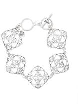 Brooks Brothers Silver Filigree Drop Bracelet