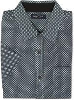 Nautica Men's Slim-Fit Geo-Print Short-Sleeve Shirt