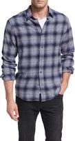 Vince Shadow Plaid Cotton Shirt