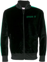Palm Angels velvet 'Legalize It' zipped sweater