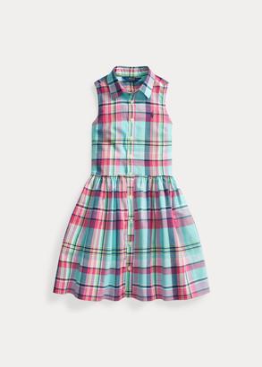 Ralph Lauren Plaid Cotton Madras Shirtdress