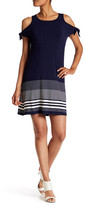 Max Studio Tie Sleeve Stripe Dress