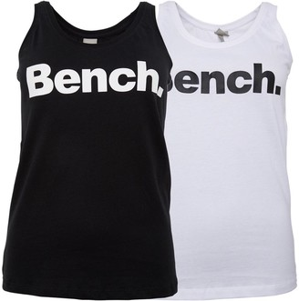 Bench Womens Two Pack Newport T-Shirts Black/White