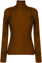 Max Mara fitted roll neck top