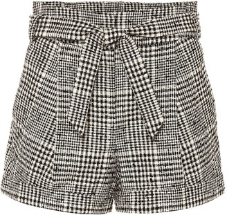Veronica Beard Michel belted tweed shorts