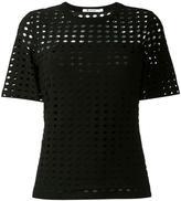 Alexander Wang circular hole T-shirt - women - Polyester/Spandex/Elastane/Rayon - S