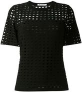 Alexander Wang circular hole T-shirt - women - Polyester/Spandex/Elastane/Rayon - XS