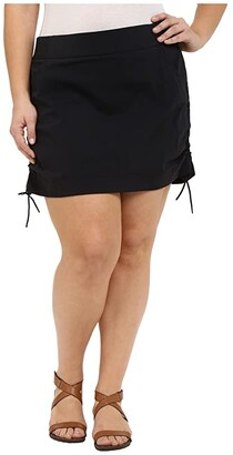 Columbia Plus Size Anytime Casual Skort (Black) Women's Skort