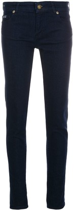 Versace Skinny Embroidered Logo Jeans