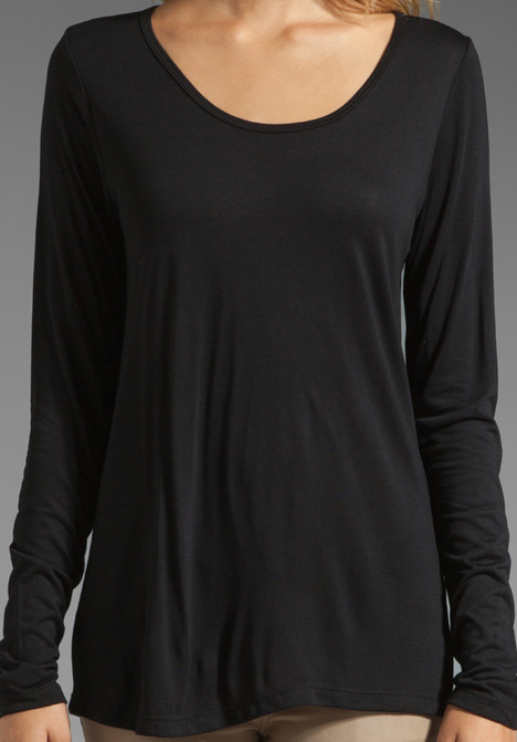 LnA Maison Zipper Back Long Sleeve Tee