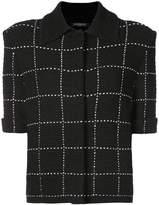 Balmain short-sleeved tweed jacket