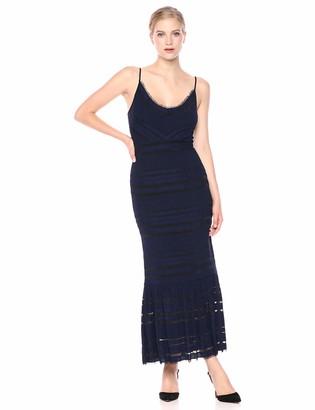 BCBGMAXAZRIA Azria Women's Fringe-Trimmed Maxi Dress