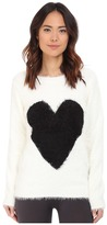 PJ Salvage Black Heart Cozy Sweater