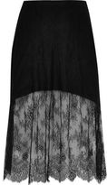 River Island Womens Plus black lace maxi skirt