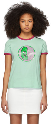 Marc Jacobs Green The Ringer T-Shirt