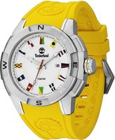 Timberland TBL-13849JS-04A Men's Altamont Silver Dial Yellow Silicone Rubber Strap Watch