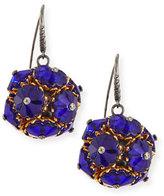 Bottega Veneta Floral Ball Drop Earrings, Blue