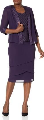 Le Bos Women's 3 Piece Asymmetric Hem Pleated Skirt Set