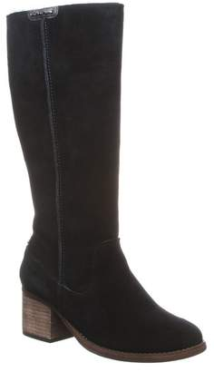 BearPaw Anthracite Suede Knee-High Boot