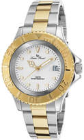 Lucien Piccard Men's 12668-SG-22 - Two Tone Steel/White Analog Watches