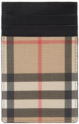 Burberry Vintage Check E-Canvas Card Holder