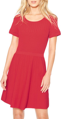 Parker Hamilton Knit Short-Sleeve Dress