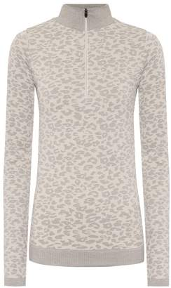 Varley Laurel leopard-print thermal top