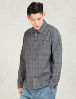 N.Hoolywood Grey L/S 2 Pocket Check Shirt